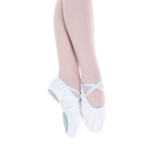 Baiwu-Girl-039-s-Canvas-Split-Sole-Dance-Slipper-Ballet-Shoes