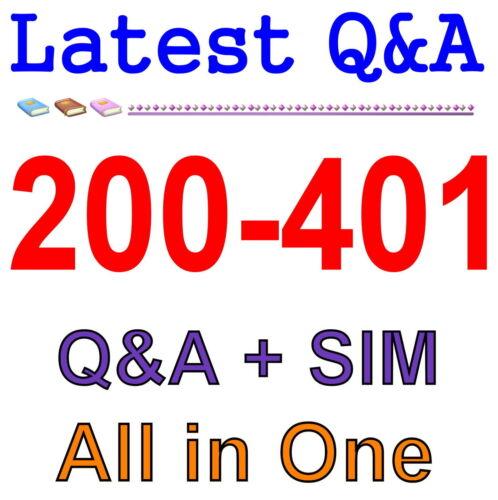 Cisco Best Practice Material For 200-401 Exam Q/&A PDF+SIM