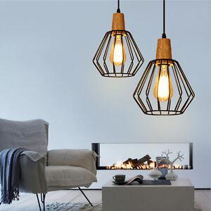 Wood Pendant Light Bedroom Lamp Bar Ceiling Lights Kitchen