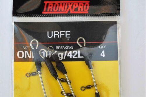 Tronixpro URFE//Pour 3 Down et portugais Rigs Pêche Maritime 4 PC Per Pack Taille 1
