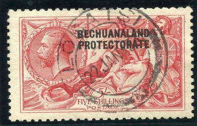"Bechuanaland 1920 Kgv ""seahorse"" 5s Rose-carmine Very Fine Used Convenient To Cook Sc 95 Sg 89"
