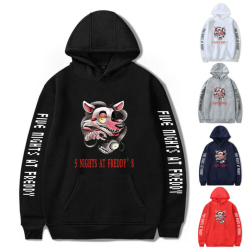 NEW Five Nights at Freddy/'s Hoodie Men/'s Women Long Sleeve Sweatshirt Coat Tops