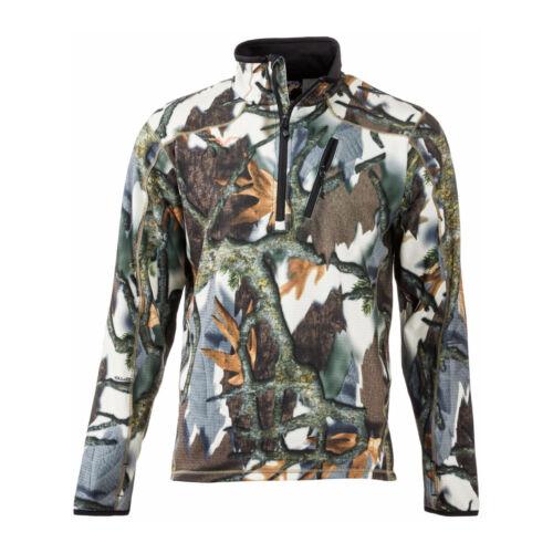 Predator Camo Kompass Fleece Performance 1//4 Zip Jacket