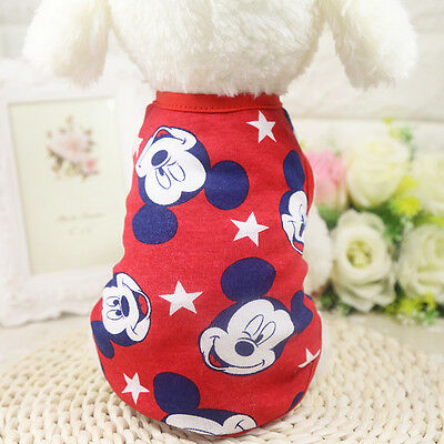 XS-XL Dog Tee Shirt Puppy 100% Cotton Vest Cat Pet Clothing Clothes for Girl Dog