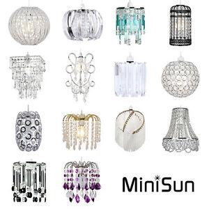 Minisun easy fit ceiling light shade lamp shades pendant chandelier la imagen se est cargando minisun easy fit luz de techo lampara colgante aloadofball Images