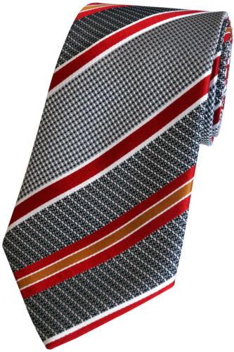 K 210.2 Grau Gestreift Handgefertigte Herren Luxus Seiden Krawatte