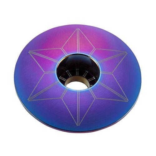 SUPACAZ Star Capz Stem Cap-Marée noire