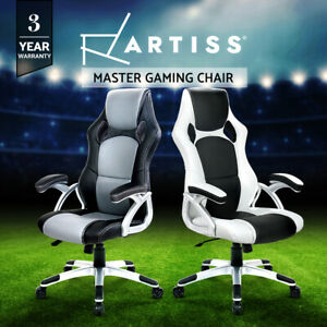 Artiss Gaming Chair Office Chair Executive Computer Chairs Seating Racing Black