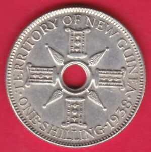 R-NEW-GUINEA-SHILLING-SILVER-1938-XF-DETAILS-3509