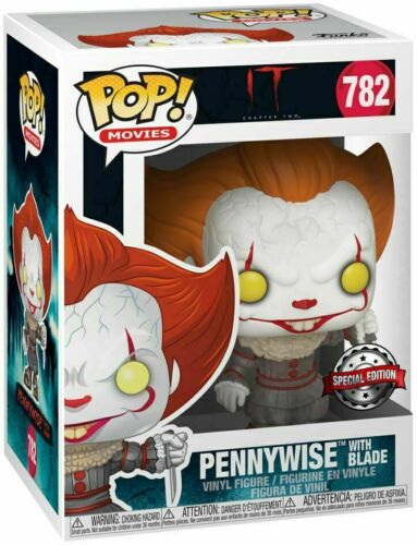IT Chapter Two Vinyl Figure Pennywise with Blade #782 Genuine Pop