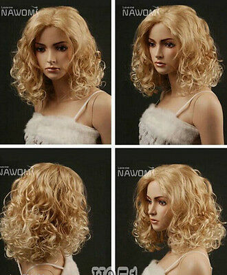 Fashion wig New Charm women's long Blonde Curly Natural Hair wigs RT28