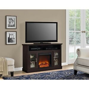 Tv Stand Electric Fireplace Media Console Entertainment Center