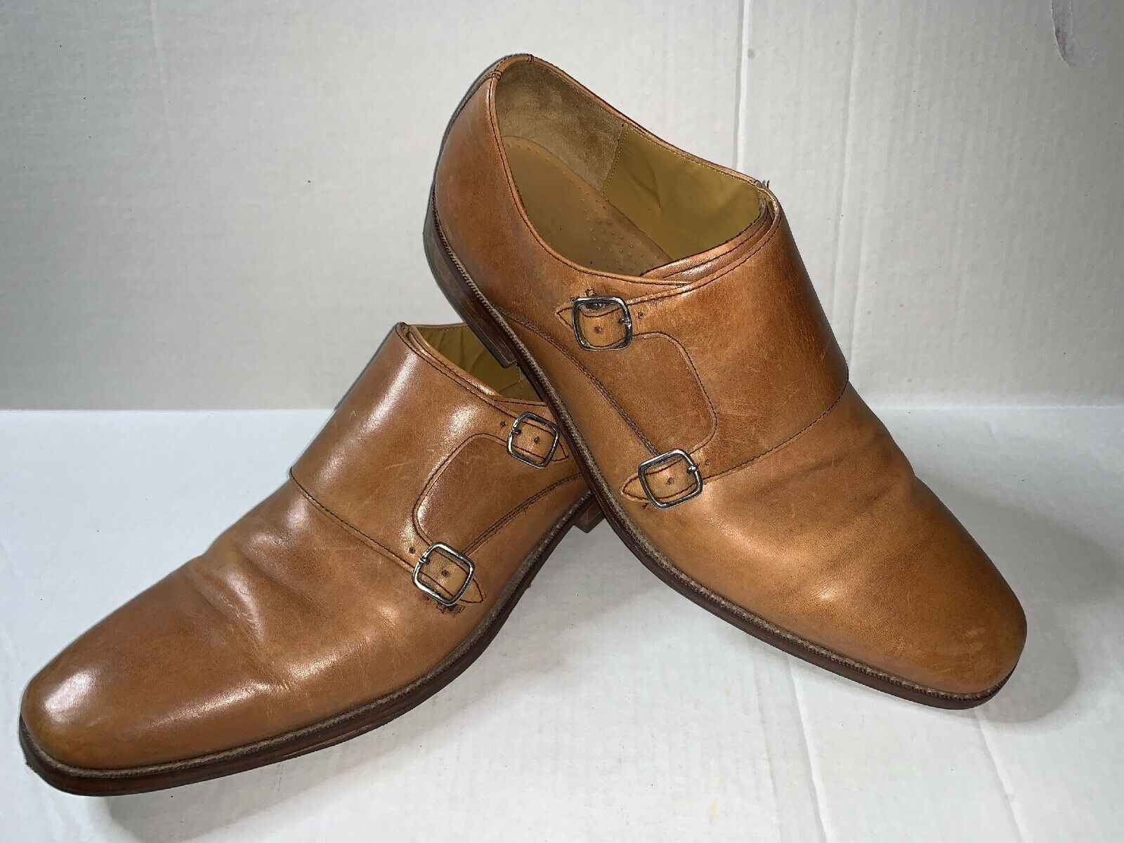 Preowned- Cole Haan Jefferson Grand Double Monk Strap Oxford Mens (Size 13)