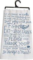 Primitives By Kathy Flour Sack Kitchen Dish Towel Table Manners