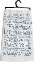 Primitives By Kathy Flour Sack Kitchen Dish Towel Table Manners
