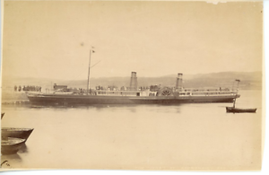 J-V-UK-Ship-034-Iona-034-at-Ardrishaig-Vintage-albumen-print-Tirage-albumine