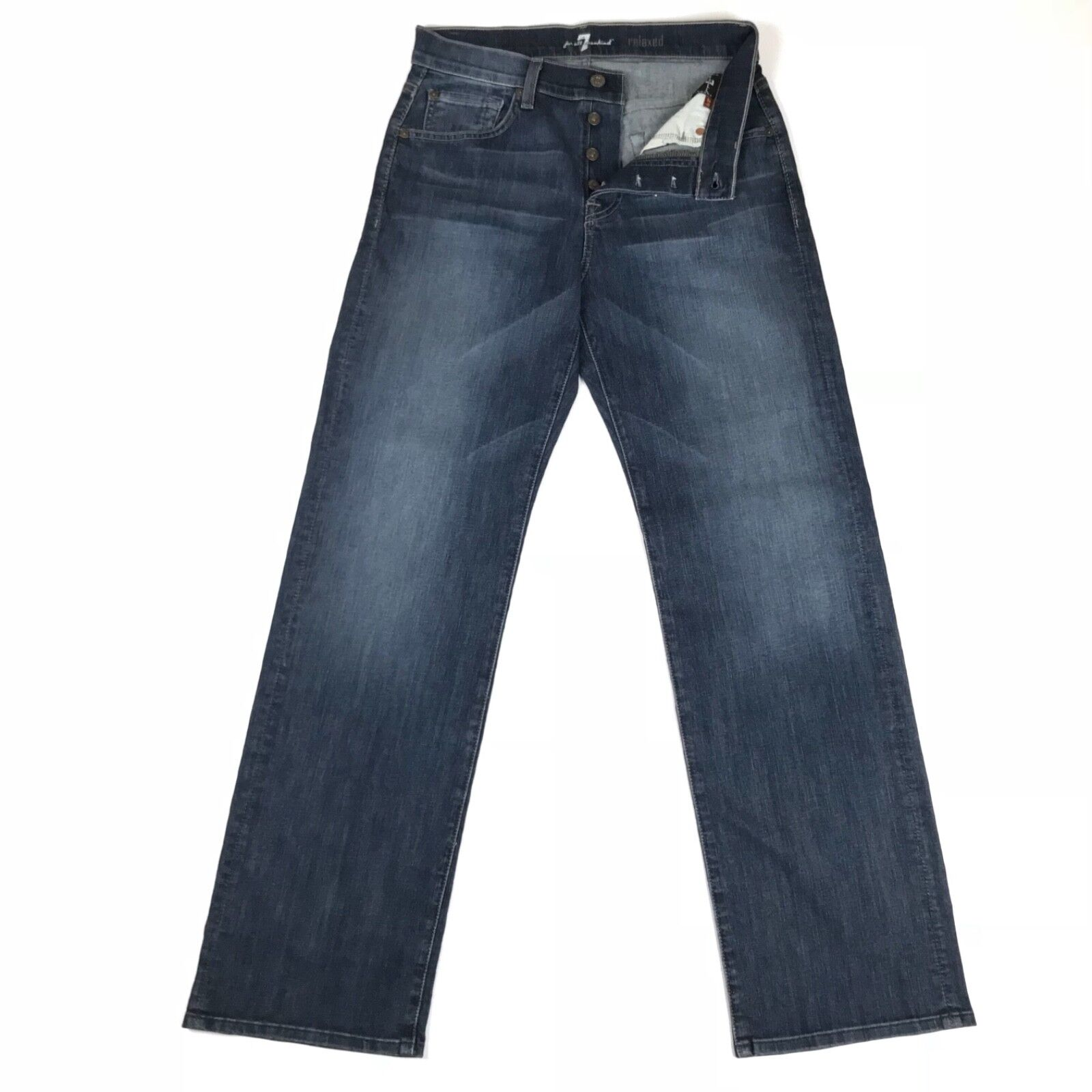7 For All Mankind Mens Jeans Relaxed Button-Fly Size 29x32