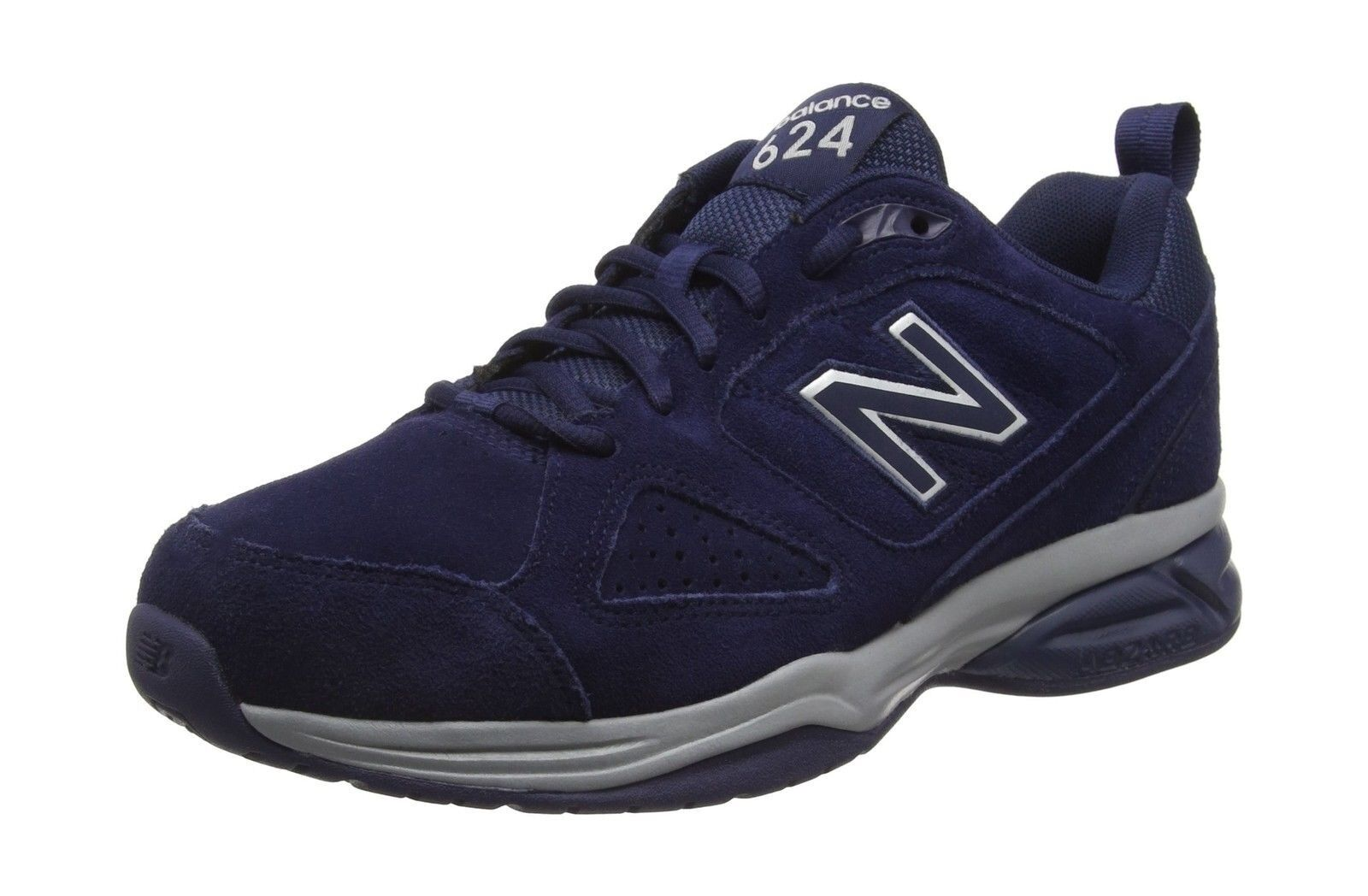 New Balance Men's MX624NV4 Navy Suede 4E Wide Trainers