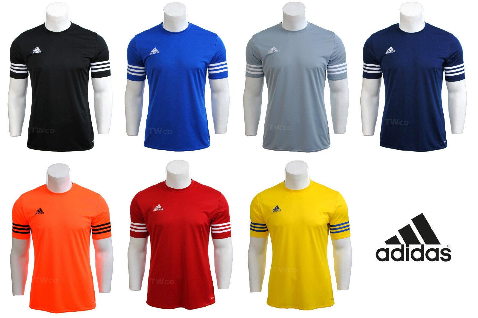 Herren / Jungen Adidas Climalite Crew Training Gym Fußball T-Shirt S M L XL XXL