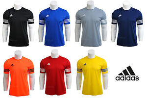 Mens-Boys-Adidas-Climalite-Crew-Training-Gym-Football-T-Shirt-Top-S-M-L-XL-XXL