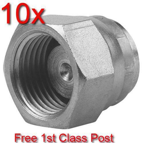 10 X 3//8 BSP Giratoria Hembra conificados Tapa de obturación hidráulico con 60 ° Cono