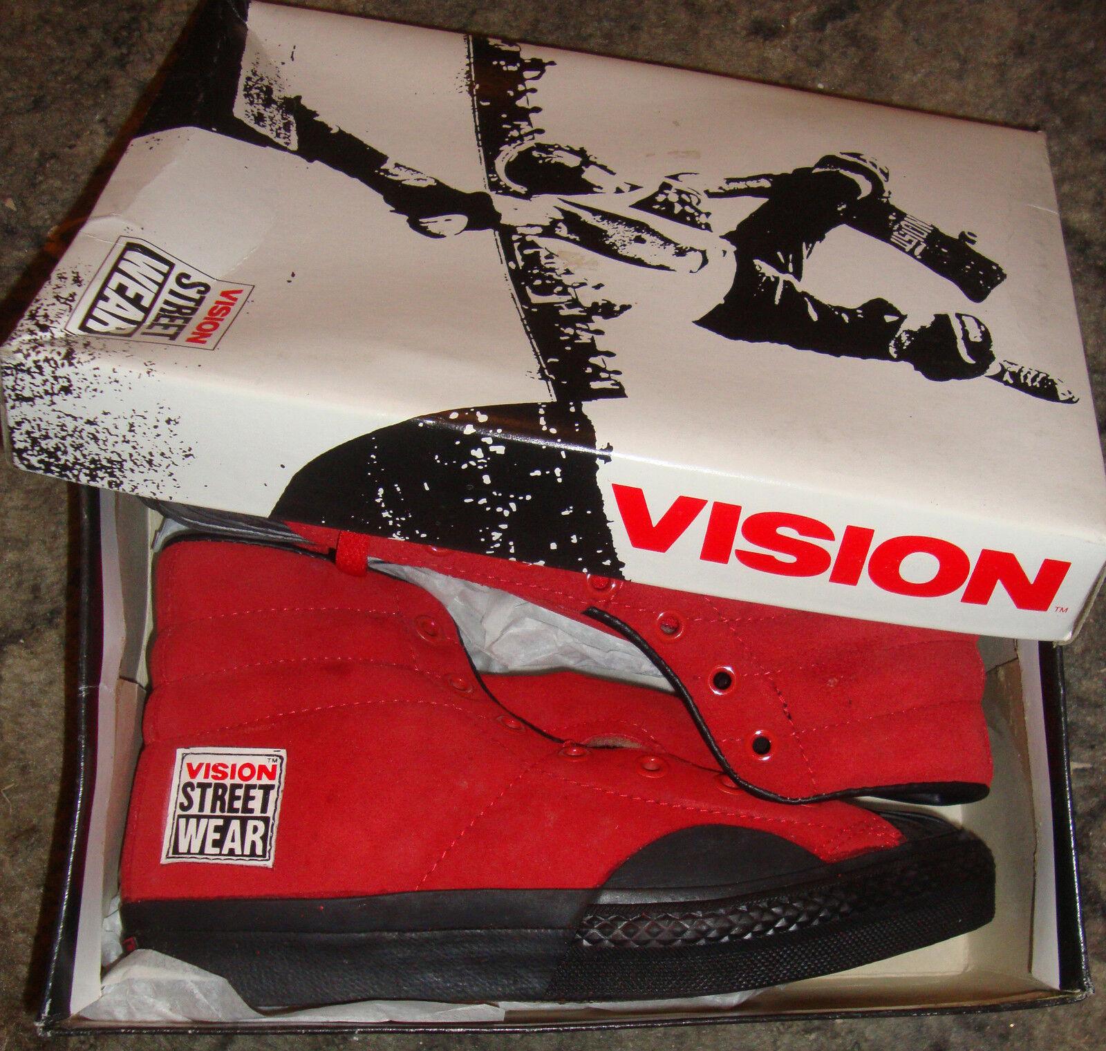 Vision Street Wear Camoscio' Skateboard Anni 80 Scarpe da Skateboard Camoscio' Rosso Alte - f516ec