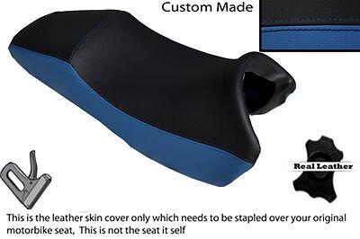 ROYAL BLUE/& BLACK CUSTOM FITS HONDA X11 CB 1100 SF 99-03 DUAL LEATHER SEAT COVER