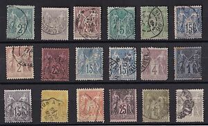 TIMBRES-FRANCE-LOT-DE-TYPE-SAGE-COTE-111