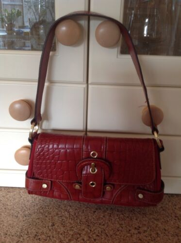 Good Wilsons bandolera con Great de usado de Bolso bolso Cond cerrado cuero rojo de ZUq7n05