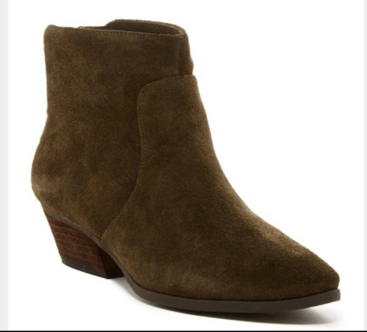 ️Vince Camuto Cinza avvioie Suede Leather Olive Studded 8 NEW ️