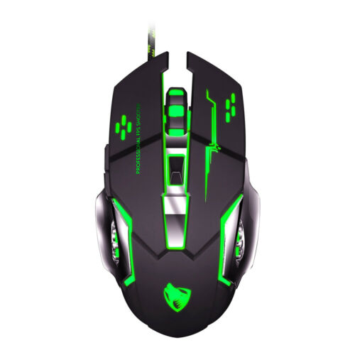 Gaming Mouse 3200DPI Wired Optical Backlight Computer Mice Silent For Laptop PC