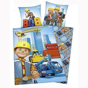 Bob-the-builder-Coton-Housse-Couette-Simple-et-D-039-Oreiller-Set-Officiel-Literie