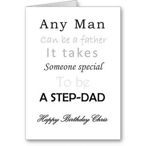Details About Personalised Typographic Step Father Dad Any Man Birthday Card Gift