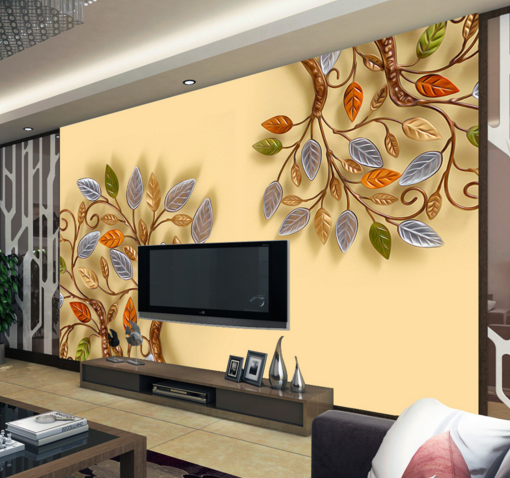 3D Tree Farbe 4655 Wallpaper Murals Wall Print Wallpaper Mural AJ WALL UK Kyra