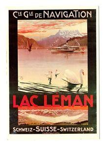 CPSM-Suisse-Lemanique-Lac-Leman-Cie-de-Navigation-Illustration