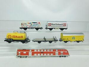 BK250-1-5x-Maerklin-H0-AC-Gueterwagen-Shell-Bananas-DB-Birthday-etc-2-Wahl