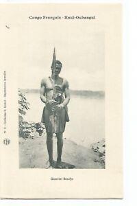 CONGO-FRANCAIS-HAUT-OUBANGUI-GUERRIER-BONDJO