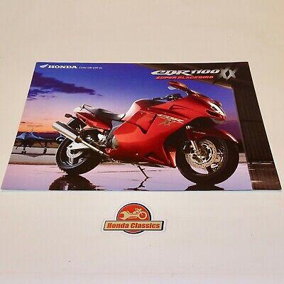 Capace Honda Cbr1100xx Super Blackbird Originale Sales Brochure. Hsb489 Vendite Di Garanzia Della Qualità