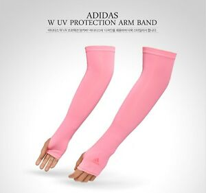 9ac33374 Details about adidas 2017 UV Protection Arm Sleeve Cover Pink For Women