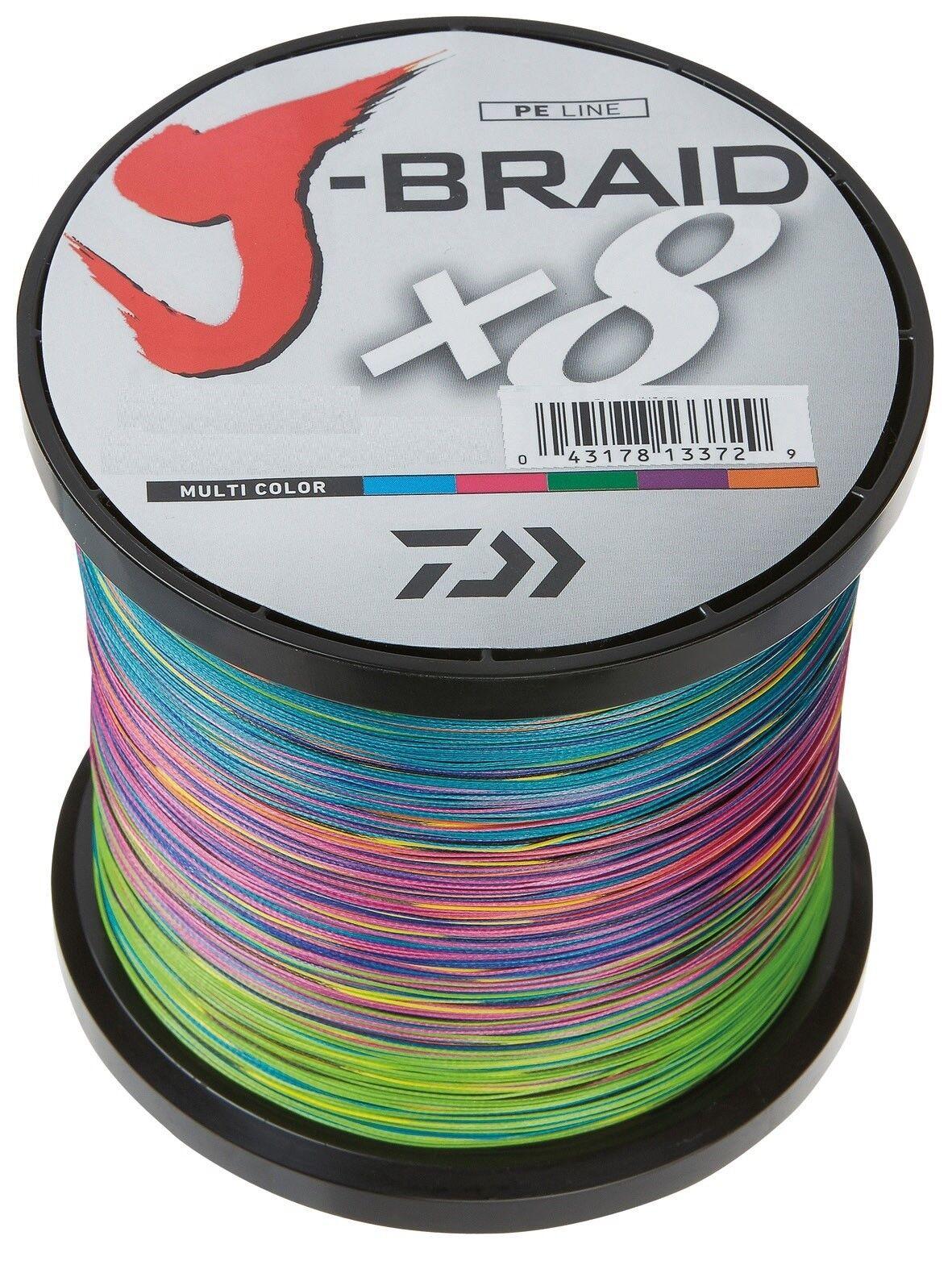 Daiwa J-Braid X8 0,18mm 12,0Kg 1500m Multicolor Geflochtene Schnur Angelschnur