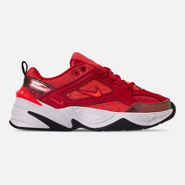 AUTHENTIC NIKE  M2K Tekno Suede University Red Crimson AV7030 600 Blk Women size