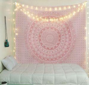 USA-Pink-Mandala-Tapestry-Wall-Hanging-Art-Floral-Patterned-Tapestry-Wall-Decor