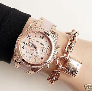 Original-Michael-Kors-Uhr-Damenuhr-MK5943-BLAIR-Farbe-Rose-Gold-Blush-NEU