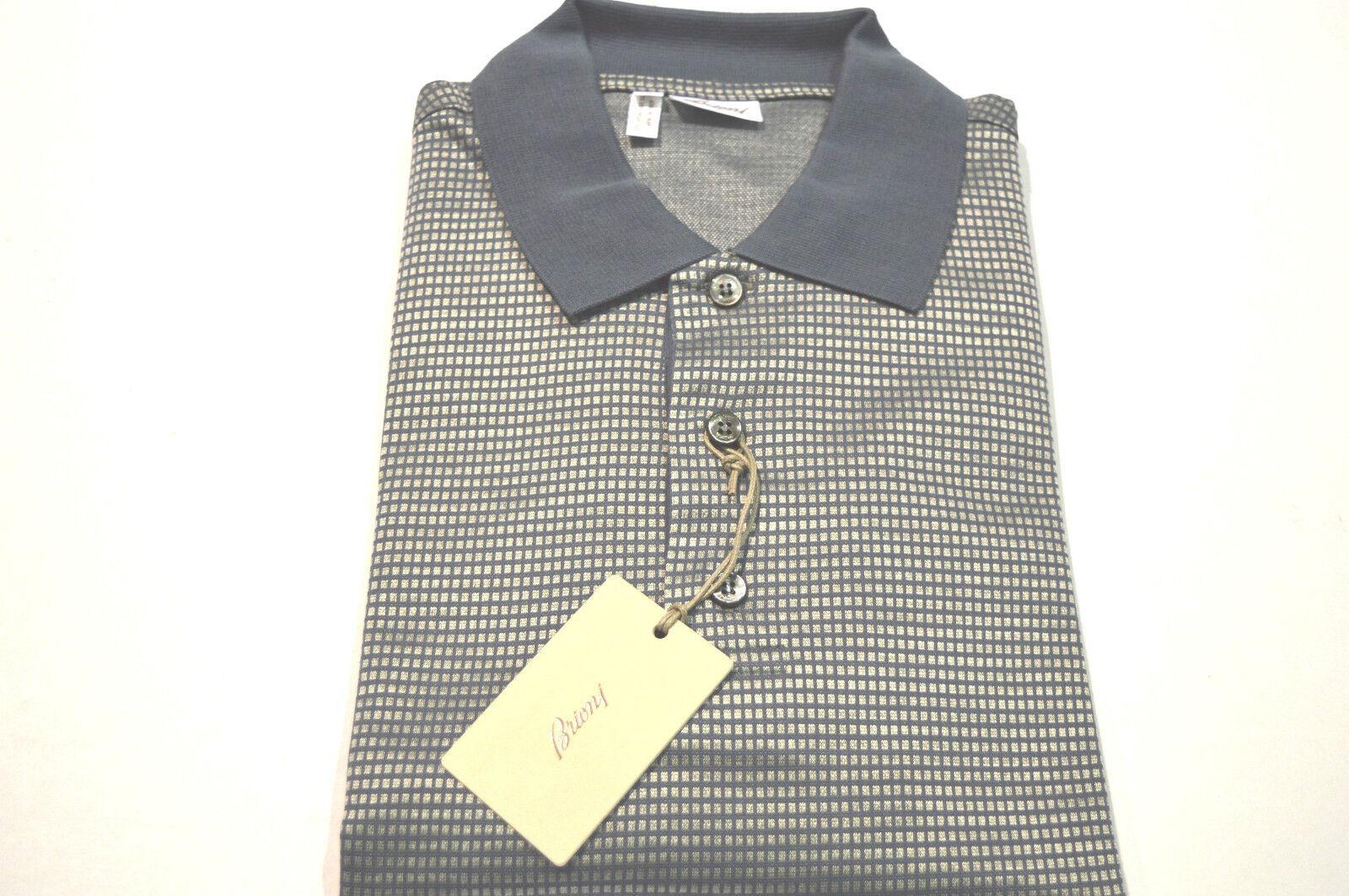 NEW  BRIONI Polo  Short Sleeve  57% Cotton  43%Silk Größe XL Us Eu 54 (SpquadrC)