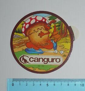 ADESIVO-VINTAGE-STICKER-AUTOCOLLANT-CANGURO-ANNI-039-80-9x9-cm-BELLO-E-RARO