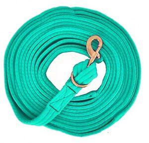 Blaugrün Flach Gepolstert Longieren Line Messing Snap 7.6m X 3.8cm Notwendigkeit