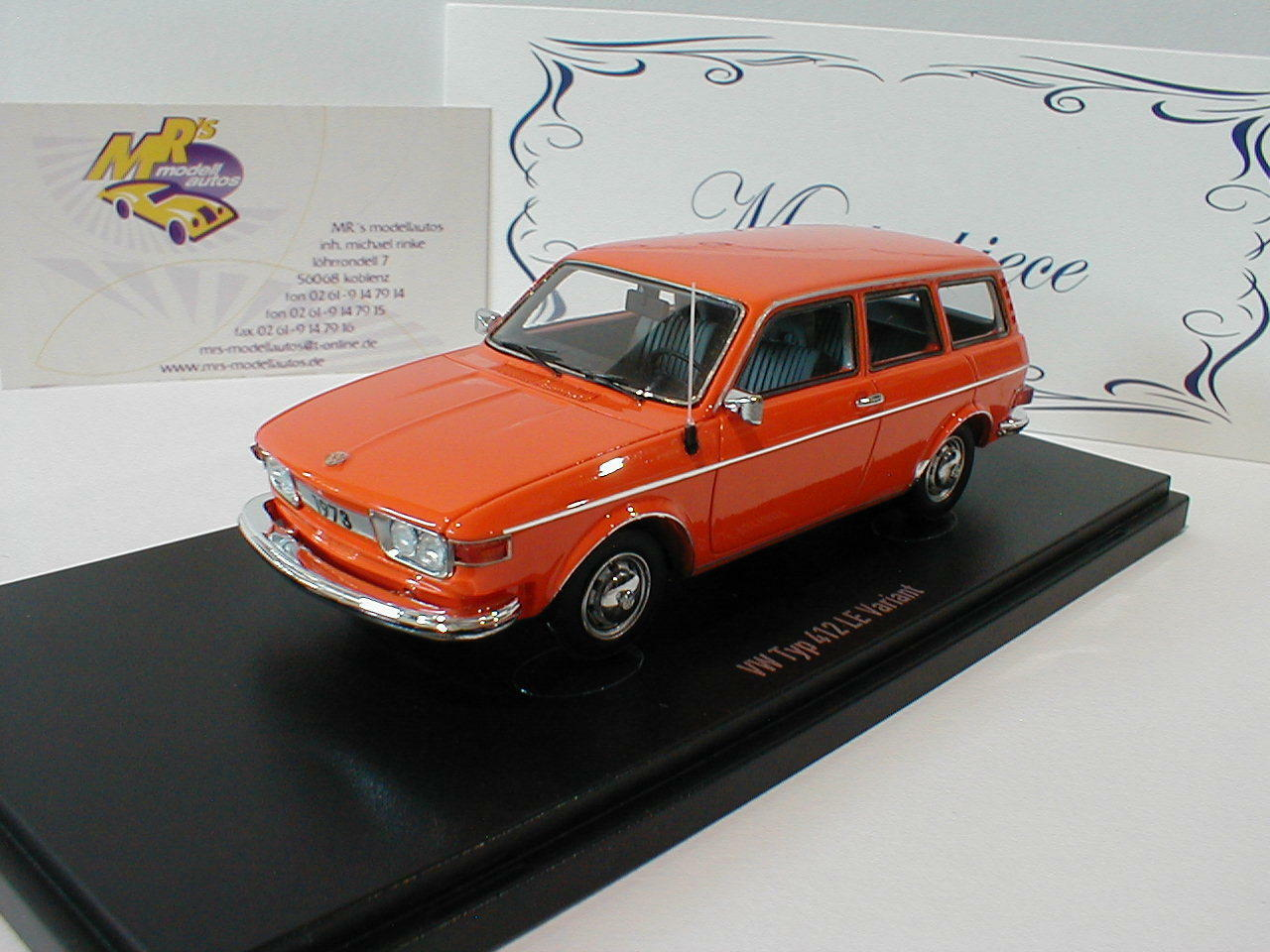 Autocult 90047-VOLKSWAGEN VW tipo 412 le Variant Anno di costruzione 1972 in arancione 1:43