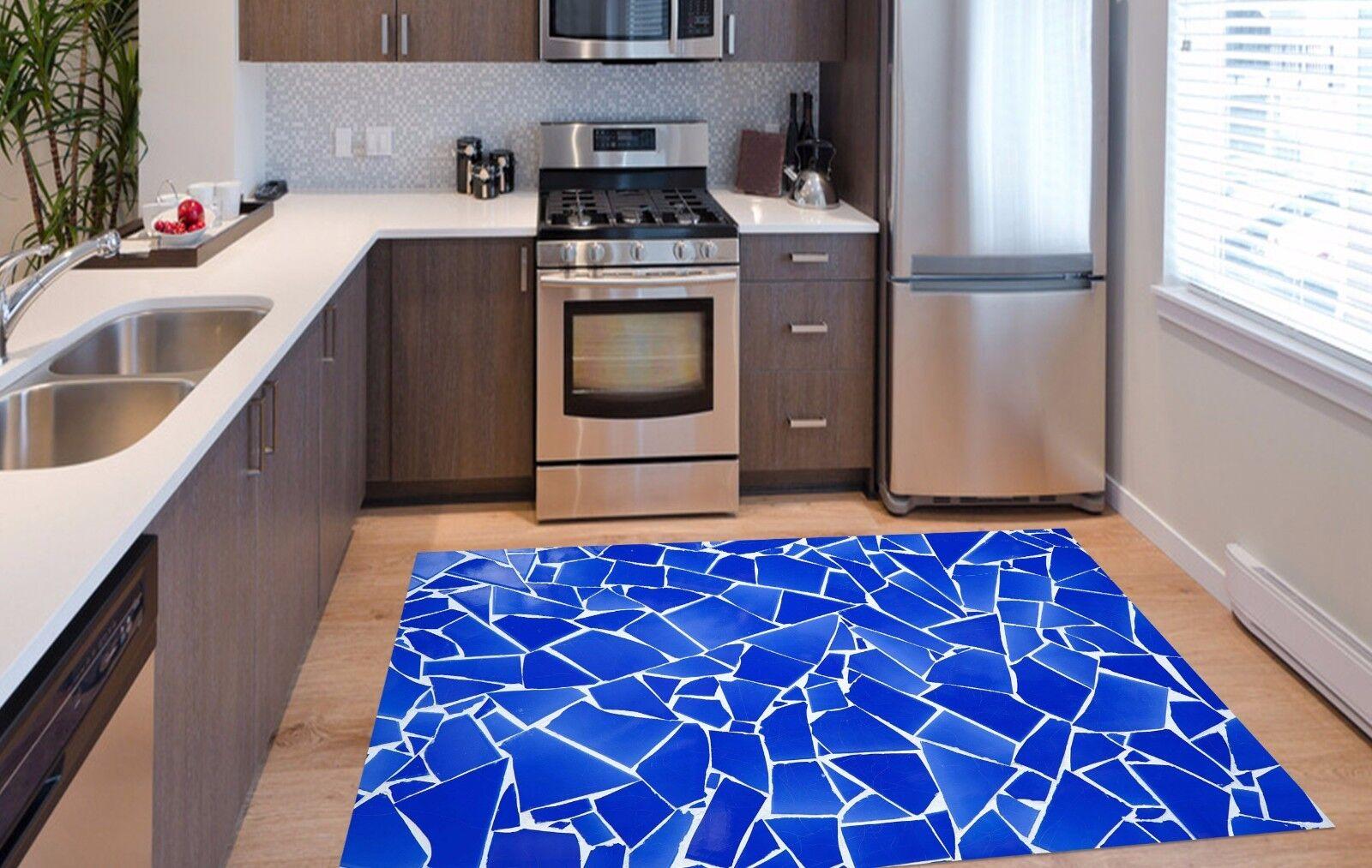 3D Blau Tiles 379 Kitchen Mat Floor Murals Wall Print Wall Deco AJ WALLPAPER UK