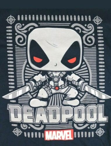 Grey DeadPool T-Shirt L Marvel Collector Corps Exclusive Funko Pop NEW