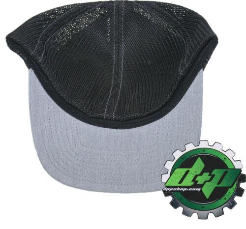 Dodge Cummins trucker hat richardson light denim Gray Black mesh flex fit lg//xl